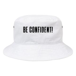自信を持って! 相手用 黒 Bucket Hat