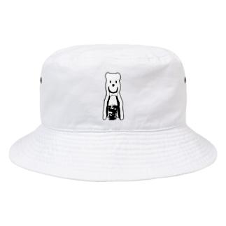 シロクマとアイスコーヒー Bucket Hat