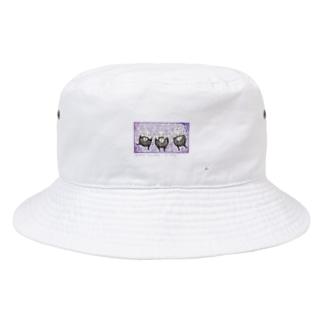 みざる、いわず、きかざる あぱれる 各10点限定 Bucket Hat