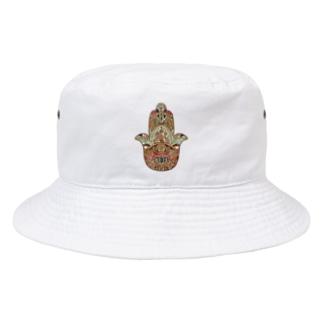 NINKOLER-HAMSA HAND- Bucket Hat
