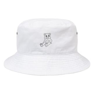 ミヤモト ミヅキのくつろぐクマ Bucket Hat