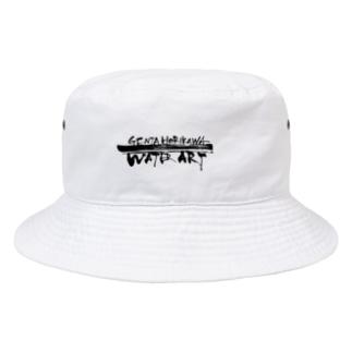 ロゴ入り(文字)白 Bucket Hat