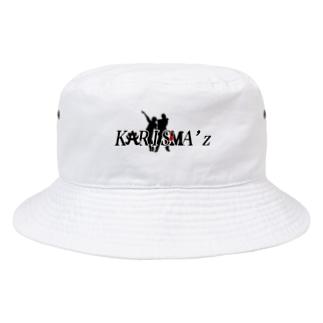 かりすま〜ず(黒字) Bucket Hat