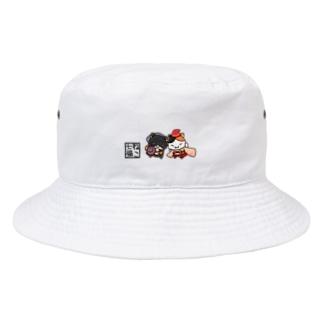 恵比寿にゃんと大国にゃん Bucket Hat