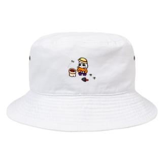 [家庭菜園・ぼち子さん]ぼっちのためのバケットハット Bucket Hat