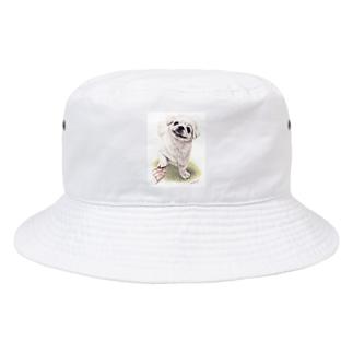 Momojiの犬画のペキニーズ1 Bucket Hat