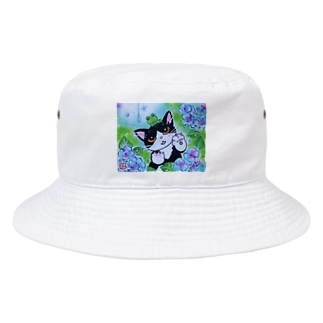 AWOJI  THE  CAT  雨がすき ! Bucket Hat