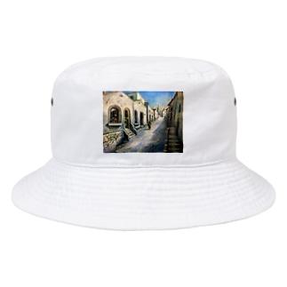 YOSHIKO MIYAHARA 「プロヴァンスの街並み」 Bucket Hat