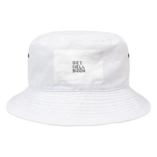 細い線を引く GET WELL SOON Bucket Hat