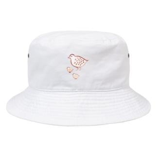 ライチョウ 親子 Bucket Hat