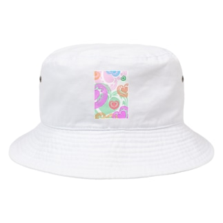 【ラテアート】カラフルハート Bucket Hat
