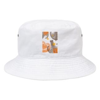 【ラテアート】レイヤーラテアート/オレンジブラウン Bucket Hat