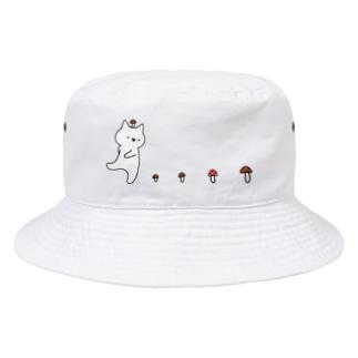 なめこがぽにょ~ん Bucket Hat