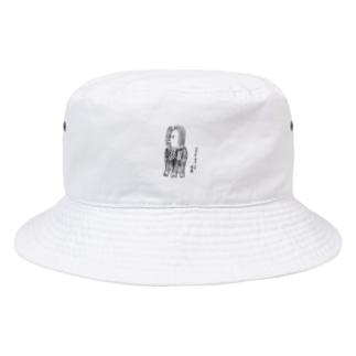 アマビエ様グッズ 白ver. Bucket Hat