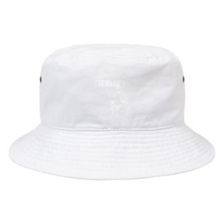 ブラさん花粉症ー白抜きー Bucket Hat