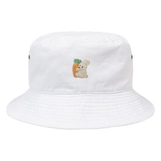 うさぎとにんじん Bucket Hat