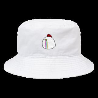 晴のレインボーヨダレニワトリ Bucket Hat