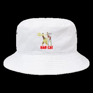 Rock catの炎のBAD CAT Bucket Hat