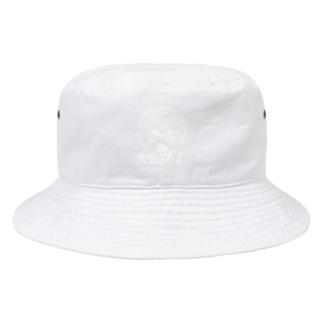 やおよろずグッズ(白ロゴ) Bucket Hat