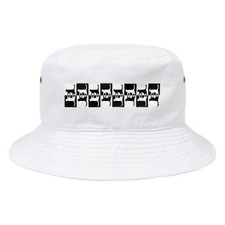 へっぽこ工房の白猫黒猫 Bucket Hat