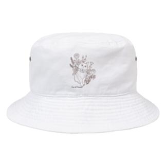 Atelier HeureuxのFiori di Primaveraシンプルvr. Bucket Hat
