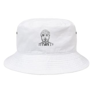 ArtpeaceのPeople s  w.fire Bucket Hat