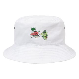 てんぐちゃんとカッパくん Bucket Hat