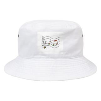 虹の音符たち Bucket Hat