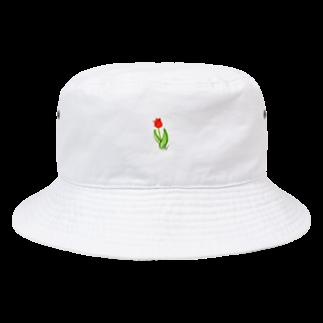 Hinakoの赤いチューリップ、単品で Bucket Hat