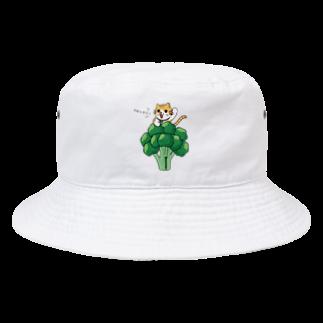 Shige-Yaのブロッコリーにゃんこ Bucket Hat