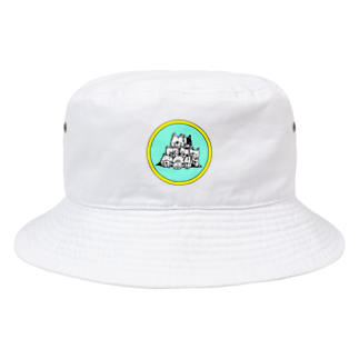 peacefulの重ね犬 Bucket Hat