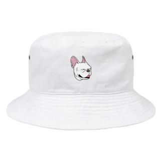 白いフレンチブルドッグ Bucket Hat