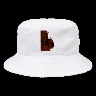 Danke Shoot Coffeeのカブトムシついてるぞ Bucket Hat