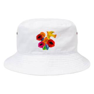hiish - イッシュ -のFlower&Bird Bucket Hat
