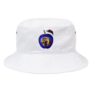 虎と青りんご_Tiger and apple Bucket Hat