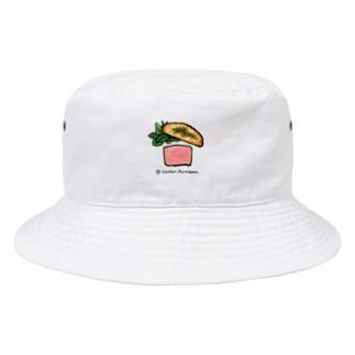 鶏の白レバーのパテ Bucket Hat