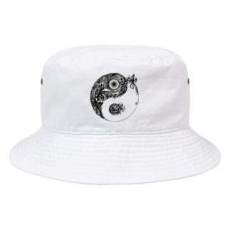 太陰太極図 Bucket Hat