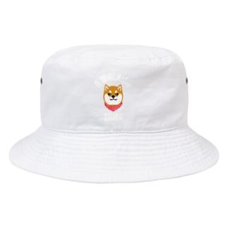 柴犬唐草散歩(赤)白文字 Bucket Hat