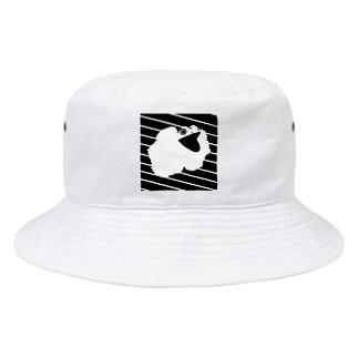 エリマキトカゲ書いたけど下手だから加工でなんとかした Bucket Hat