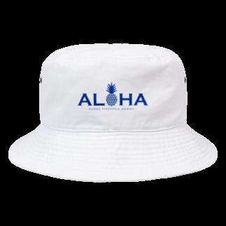 aloha_pineapple_hawaiiのパイナップル 17(heart) Bucket Hat