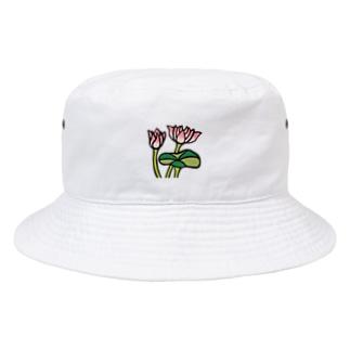 くま五郎本舗のきれいに咲いた蓮の花 Bucket Hat