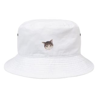 ハチワレトラのくっくさん Bucket Hat