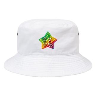 パンダスター Bucket Hat