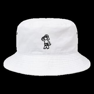 D.PantsのD.Pants9黒 Bucket Hat