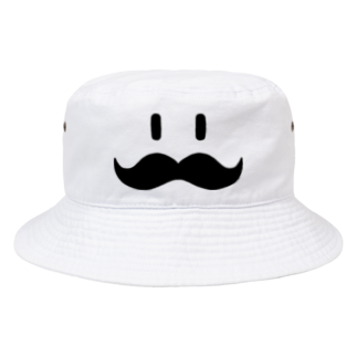 トシゾーのSUZURIのとこのヒゲ(黒) Bucket Hat