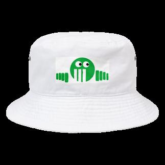アメリカンベースのグリーン Bucket Hat