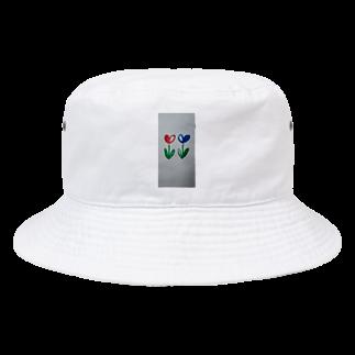 まるあるちの双子のハート花 Bucket Hat