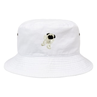 パグのリアルなパグ Bucket Hat