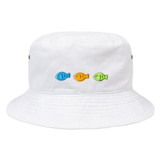 さかなが3匹 Bucket Hat