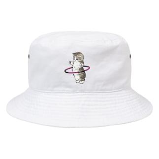 フラフープにゃん Bucket Hat